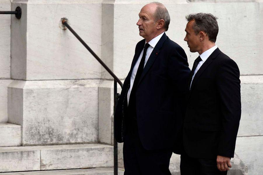 Le PDG de L'Oréal Jean-Paul Agon aux obsèques de Liliane Bettencourt.