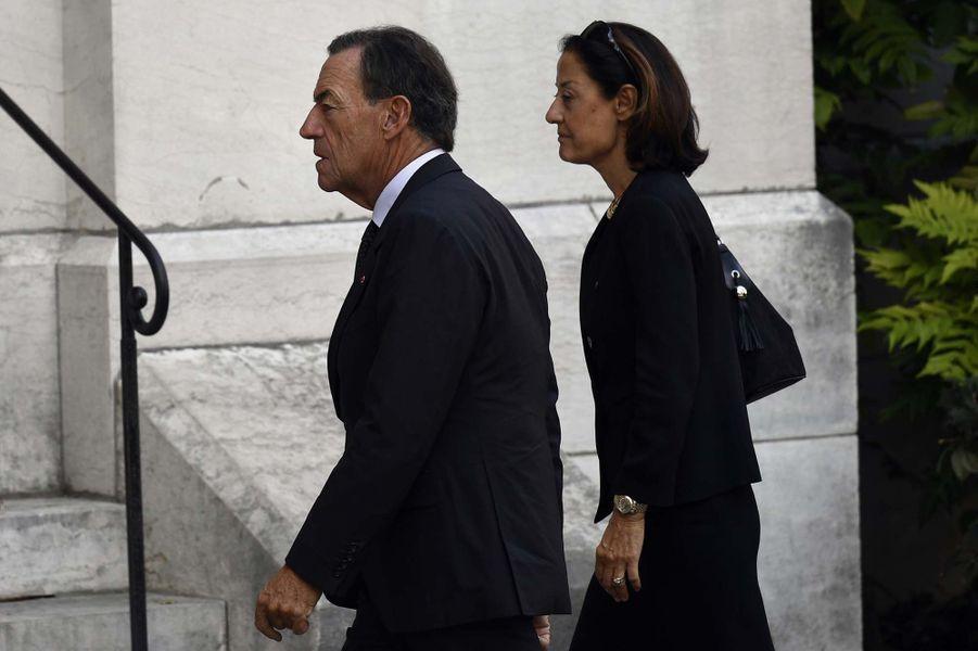 L'ancien PDG de L'Oréal Lindsay Owen-Jones et sa femme Cristina aux obsèques de Liliane Bettencourt.