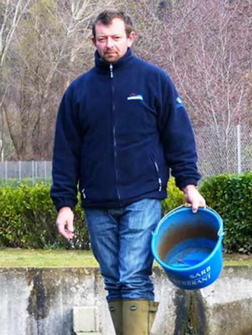 David Bonnet, 44 ans, pisciculteur