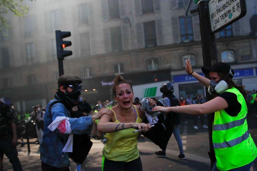 Des violences dans le cortège parisien des gilets jaunes.