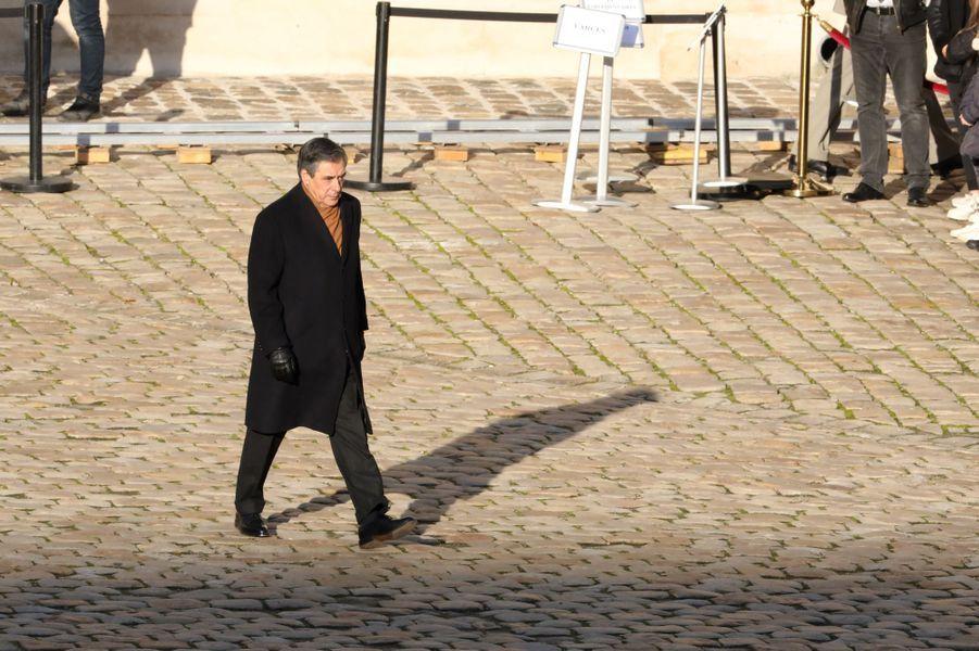 François Fillon aux Invalides pour l'hommage aux 13 soldats tués au Mali.