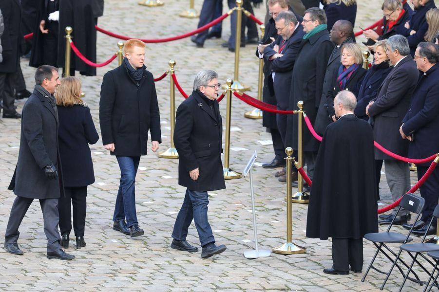 Jean-Luc Mélenchon et Adrien Quatennens aux Invalides pour l'hommage aux 13 soldats tués au Mali.