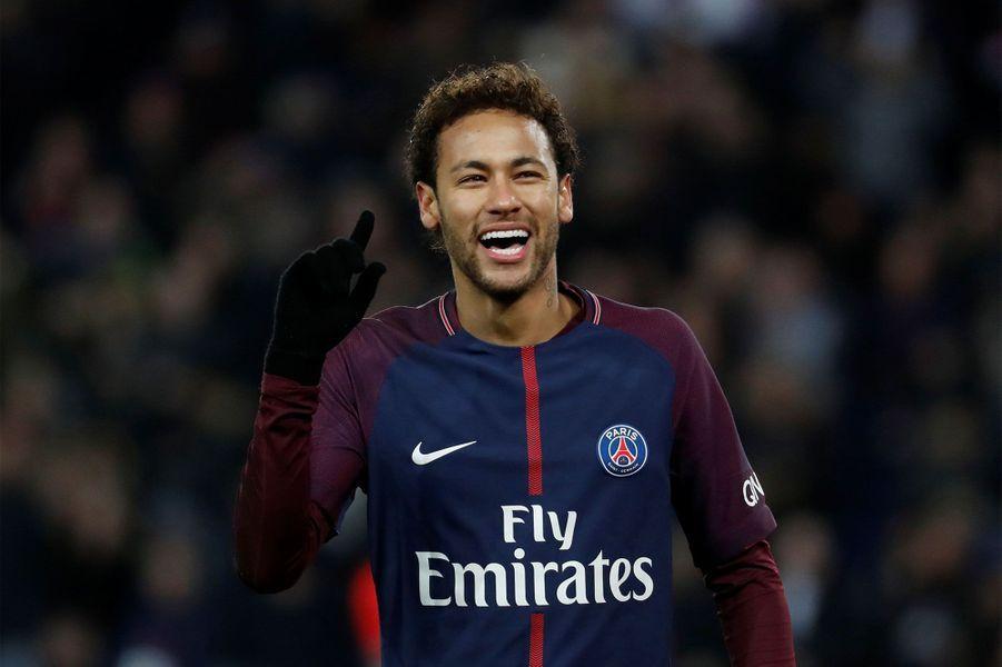 Neymar lors du match contre Montpellier, a marqué sur penlaty.