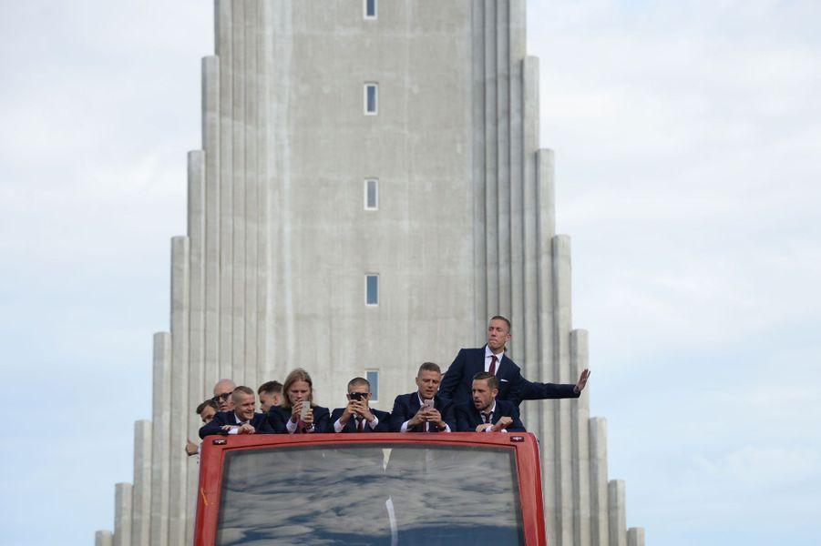 A Reykjavik, le retour des héros islandais