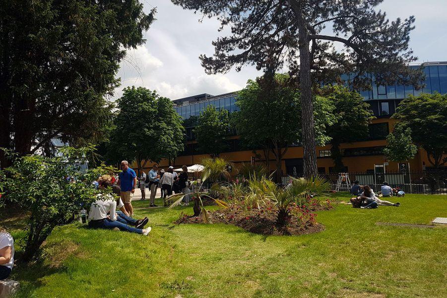 Le nouvel espace de Roland-Garros, conçu autour du court Simonne-Mathieu.