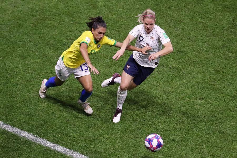 Eugénie Le Sommer en action.