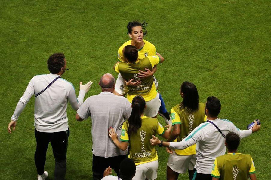 L'égalisation brésilienne à l'heure de jeu.