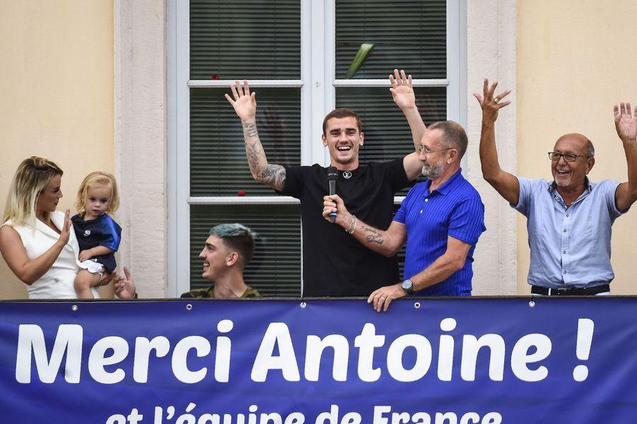 Antoine Griezmann et sa famille à Mâcon