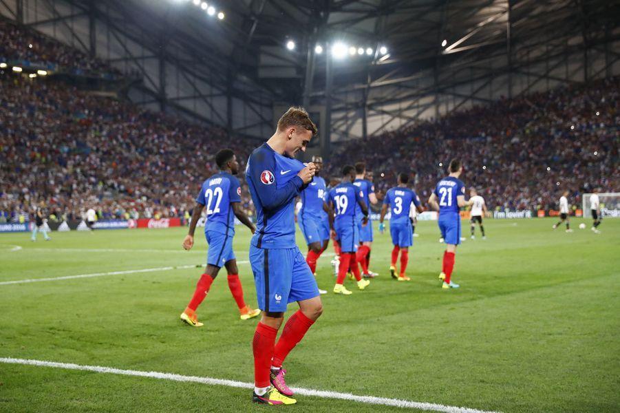 Antoine Griezmann a été désigné meilleur joueur de l'Euro 2016 (ici face à l'Allemagne, le 7 juillet 2016).