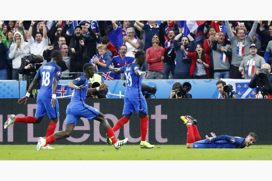 Antoine Griezmann a été désigné meilleur joueur de l'Euro 2016 (ici face à l'Islande, le 3 juillet 2016).