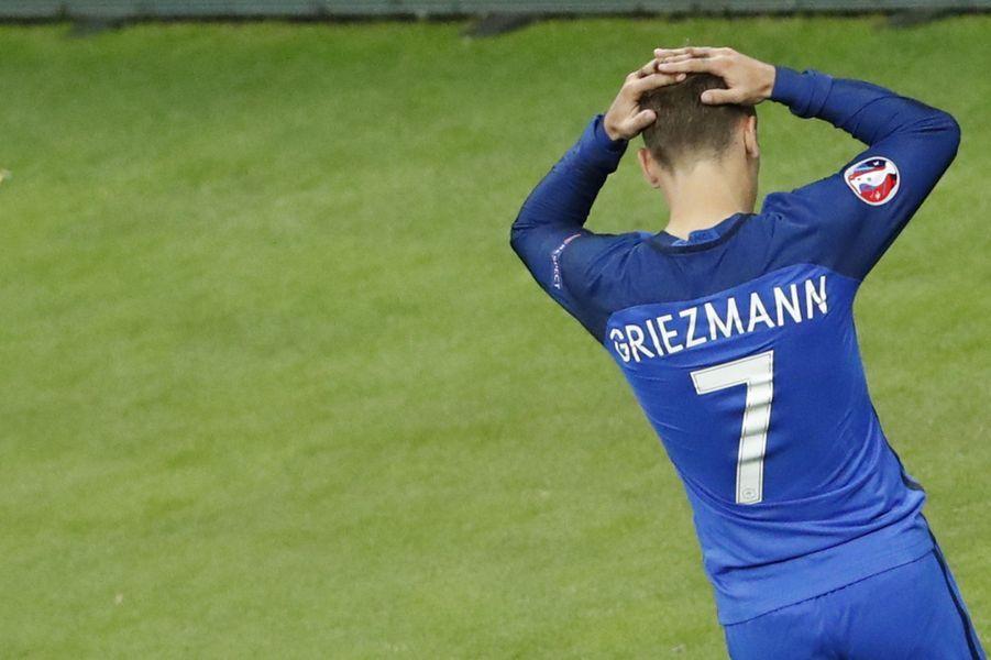 Antoine Griezmann a été désigné meilleur joueur de l'Euro 2016 (ici face au Portugal, le 10 juillet 2016).