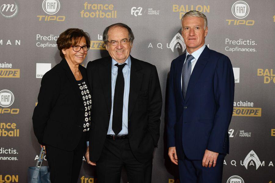 Didier Deschamps avec NoëlLe Graët et son épouse