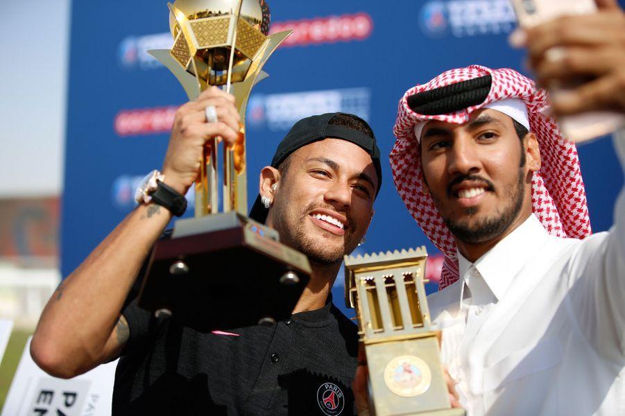 Neymar a remporté une course.