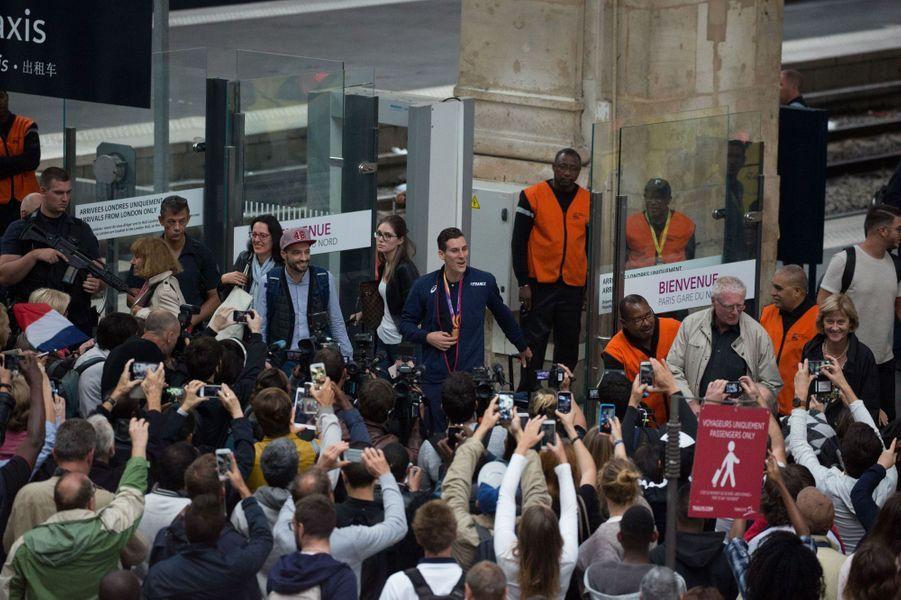 Pierre-Ambroise Bosse à son retour à Paris, le 12 août 2017.