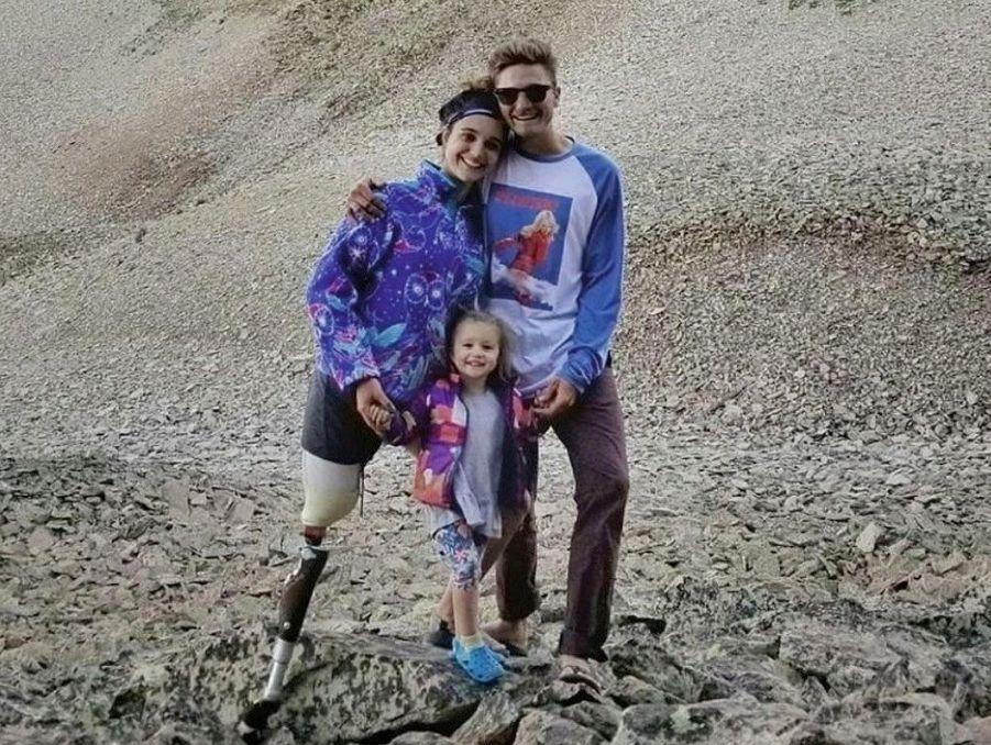 Nous sommes accros à l'aventure » : avec Tristan et leur fille Lilah dans les montagnes de l'Utah, en juin 2018.
