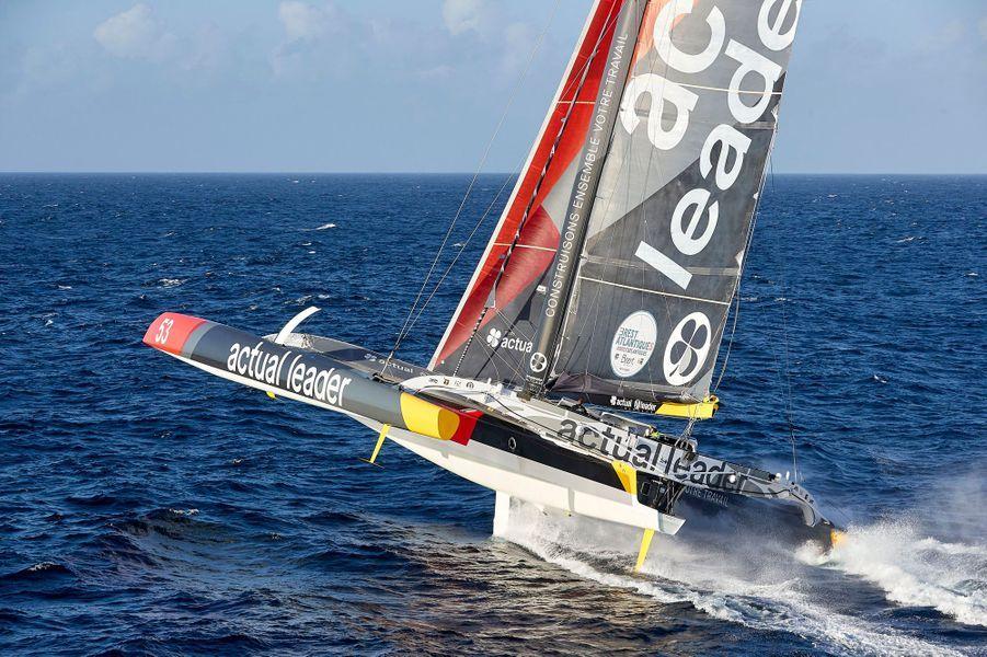 Team Actual Leader: Skipper: Yves Le BlévecCo-skipper: Alex PellaMediaman: Ronan Gladu
