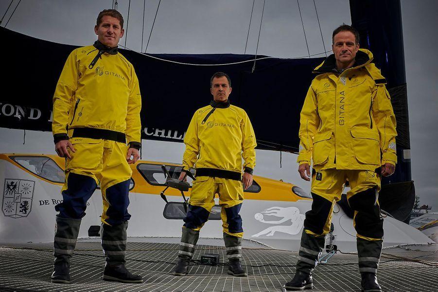 Team Maxi Edmond de Rothschild:Skippers: Franck Cammas et Charles CaudrelierMediaman: Yann Riou