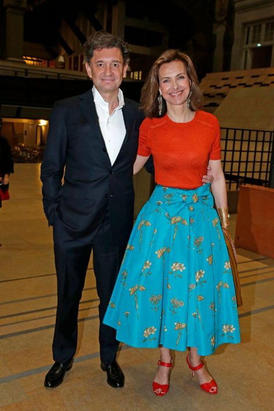 Philippe Sereys de Rothschild et Carole Bouquet.
