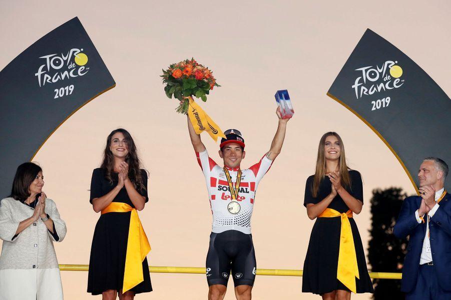 Le Français Romain Bardet a remporté lui maillot à pois du meilleur grimpeur