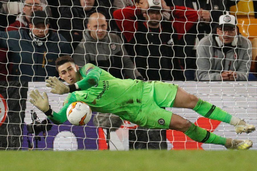 Le portier de ChelseaKepa Arrizabalaga a réussi quelques parades lors de la séance de tirs au but.