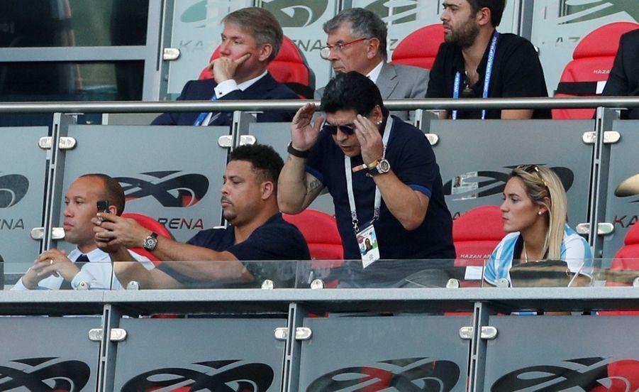 Les Larmes De Maradona, Après La Victoire De La France Contre L'Argentine En 8e De Finale De La Coupe Du Monde 2018 ( 13