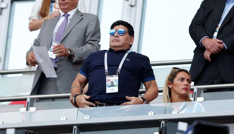 Les Larmes De Maradona, Après La Victoire De La France Contre L'Argentine En 8e De Finale De La Coupe Du Monde 2018 ( 3