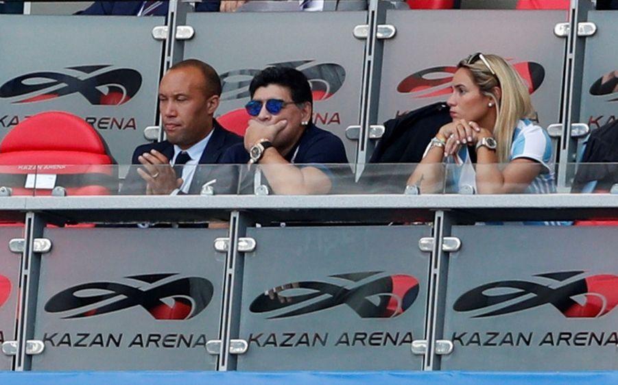 Les Larmes De Maradona, Après La Victoire De La France Contre L'Argentine En 8e De Finale De La Coupe Du Monde 2018 ( 4