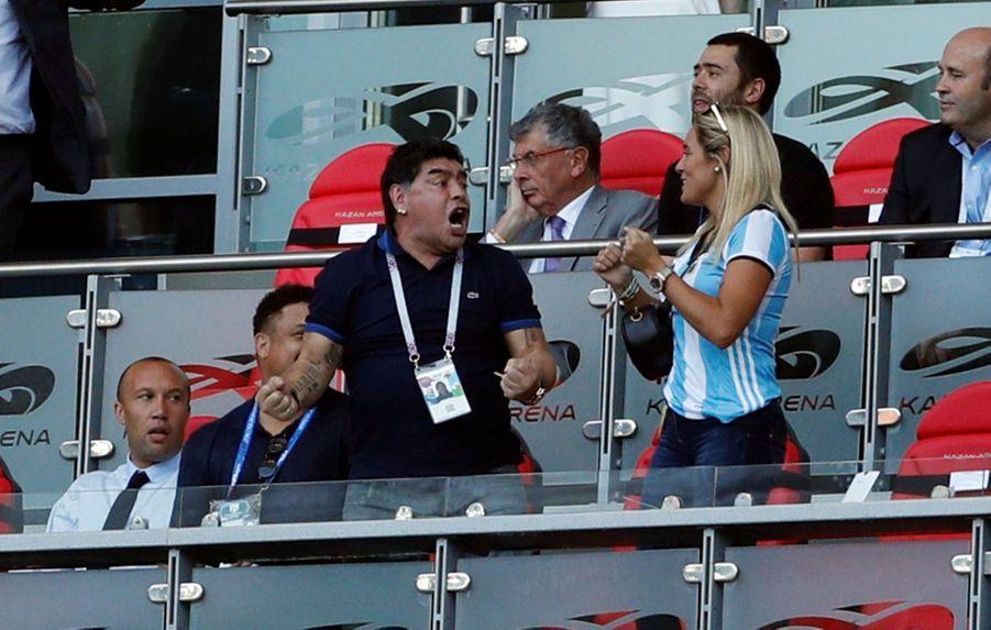 Les Larmes De Maradona, Après La Victoire De La France Contre L'Argentine En 8e De Finale De La Coupe Du Monde 2018 ( 8