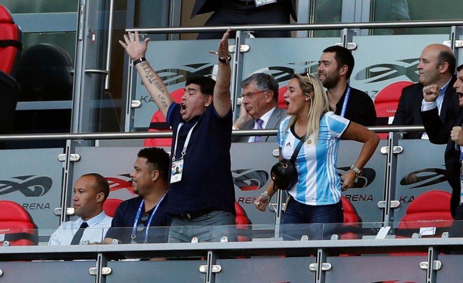Les Larmes De Maradona, Après La Victoire De La France Contre L'Argentine En 8e De Finale De La Coupe Du Monde 2018 ( 9