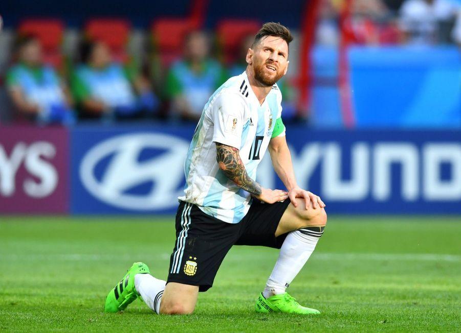 Les Larmes De Messi, Après La Victoire De La France Contre L'Argentine En 8e De Finale De La Coupe Du Monde 2018 ( 12