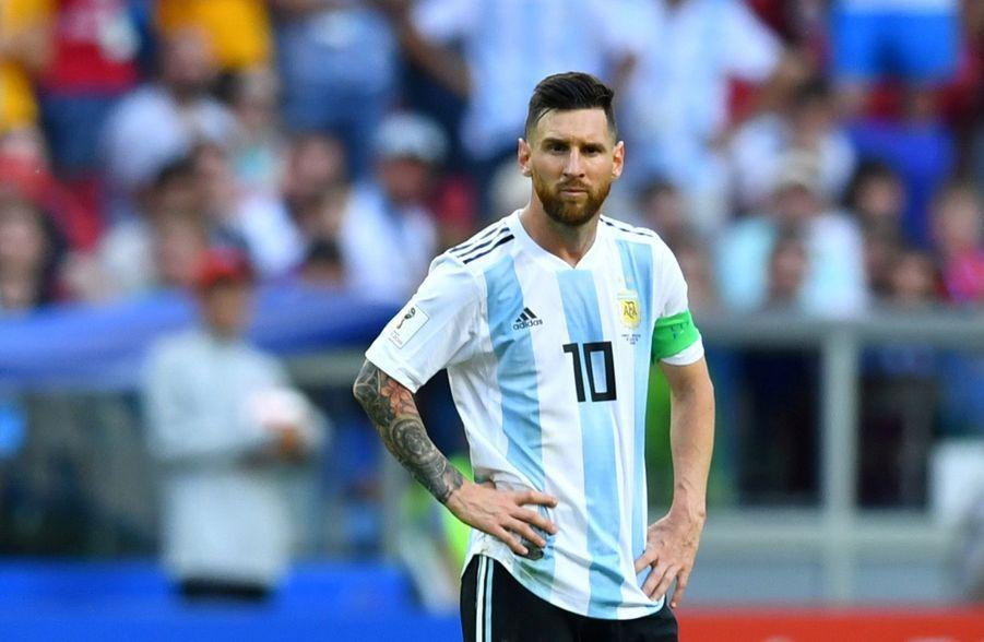 Les Larmes De Messi, Après La Victoire De La France Contre L'Argentine En 8e De Finale De La Coupe Du Monde 2018 ( 15