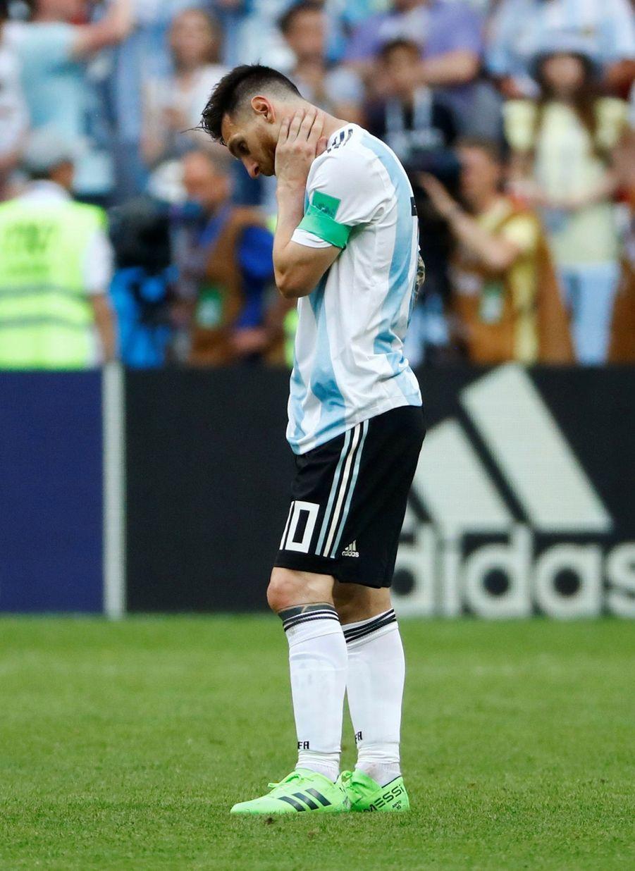 Les Larmes De Messi, Après La Victoire De La France Contre L'Argentine En 8e De Finale De La Coupe Du Monde 2018 ( 17