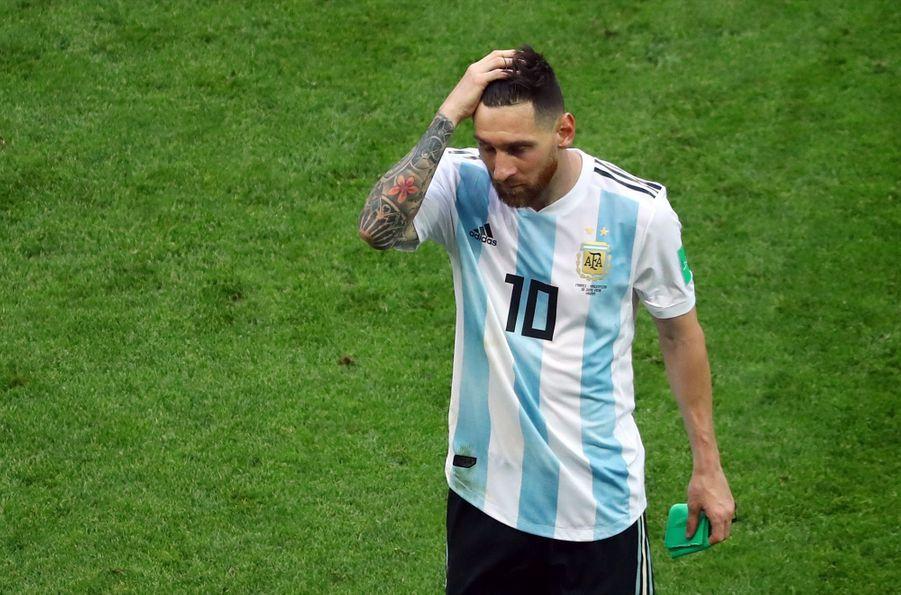 Les Larmes De Messi, Après La Victoire De La France Contre L'Argentine En 8e De Finale De La Coupe Du Monde 2018 ( 18