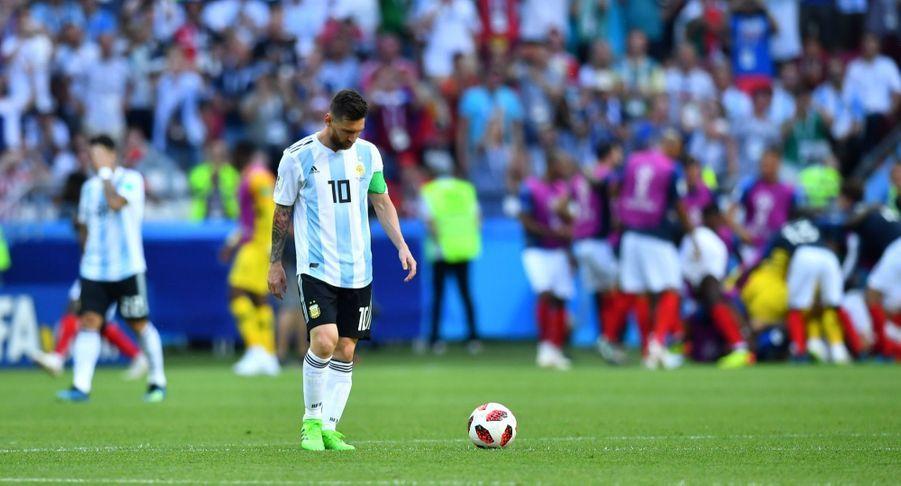 Les Larmes De Messi, Après La Victoire De La France Contre L'Argentine En 8e De Finale De La Coupe Du Monde 2018 ( 2