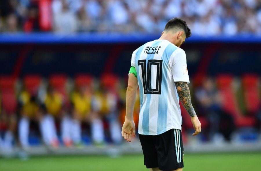 Les Larmes De Messi, Après La Victoire De La France Contre L'Argentine En 8e De Finale De La Coupe Du Monde 2018 ( 6