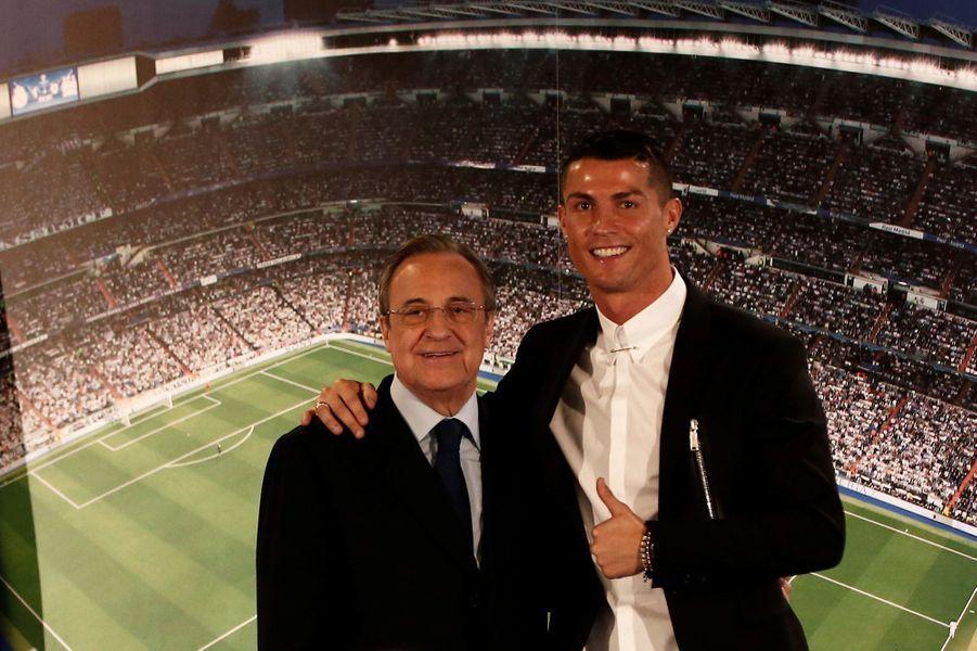Florentino Perez et Cristiano Ronaldo.