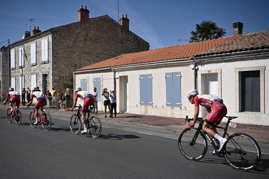 Mardi 8 septembre, l'étape du Tour a relié l'île d'Oléron à l'île de Ré.
