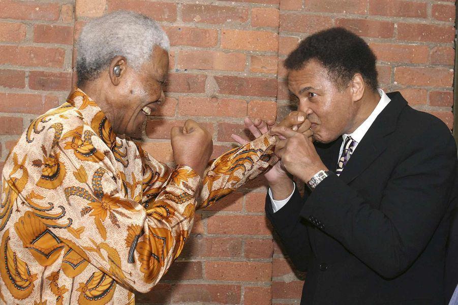 Avec Nelson Mandela en 2005
