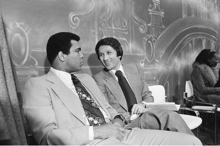 Mohamed Ali sur le plateau de Michel Drucker en mars 1976.