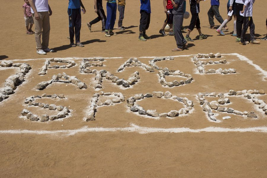 Dans un camps de Jordanie, des champions mobilisés pour le sport et la paix.