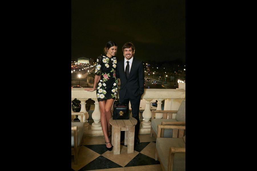 Fernando Alonso et sa fiancée, Linda Morselli.