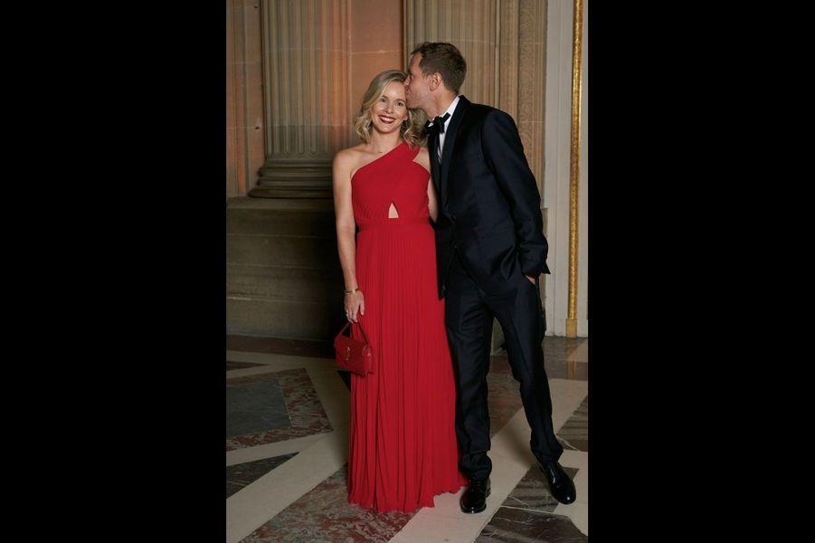 Sebastian Vettel, avec sa compagne Hanna.