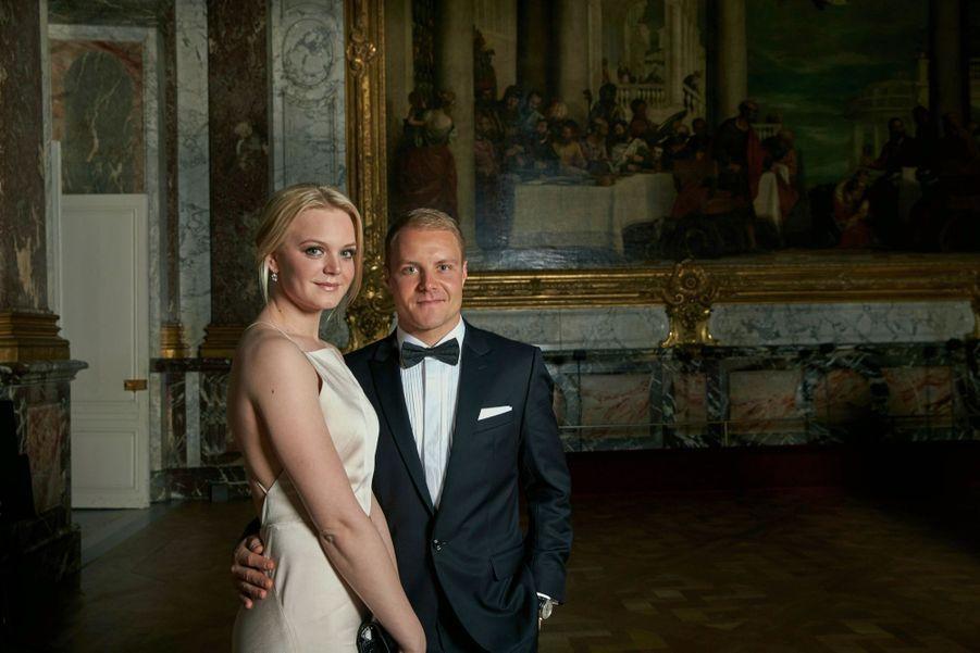 Valtteri Bottas et son épouse, Emilia.
