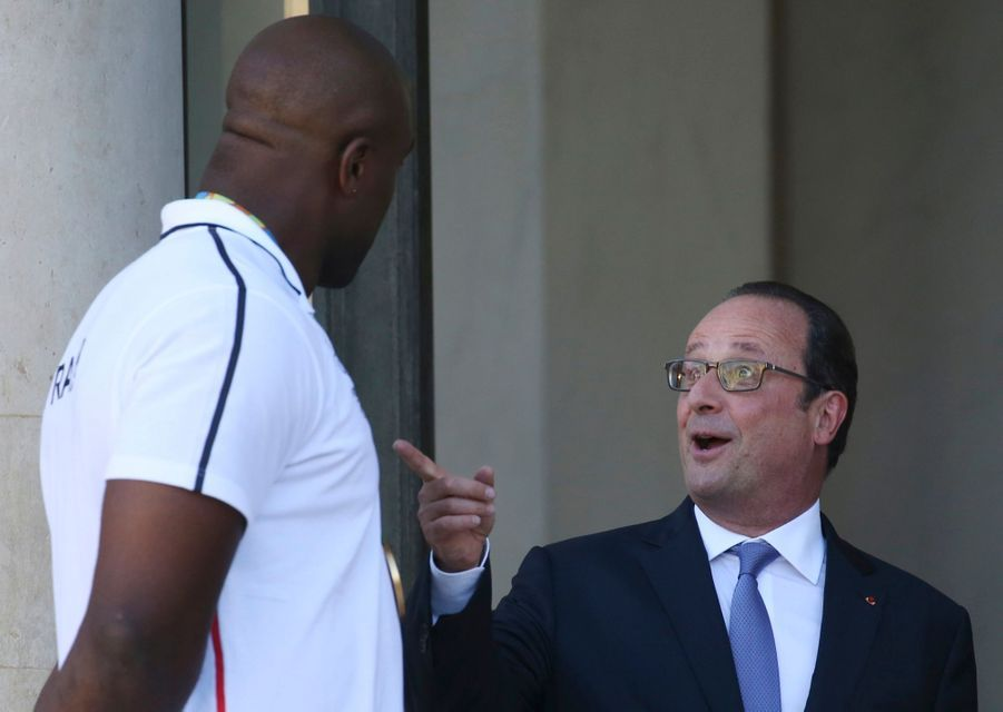 Teddy Riner et Francois Hollande