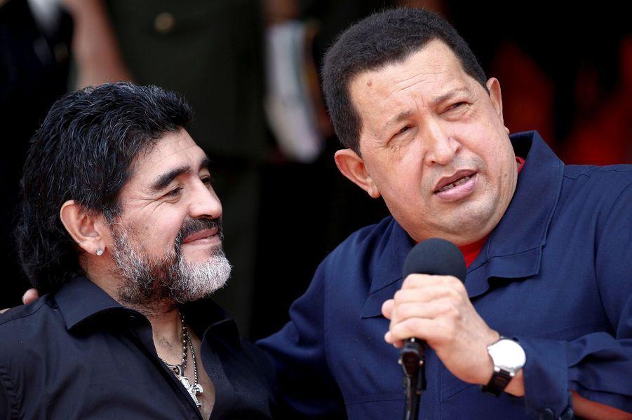 Diego Maradona et Chavez, en 2010.
