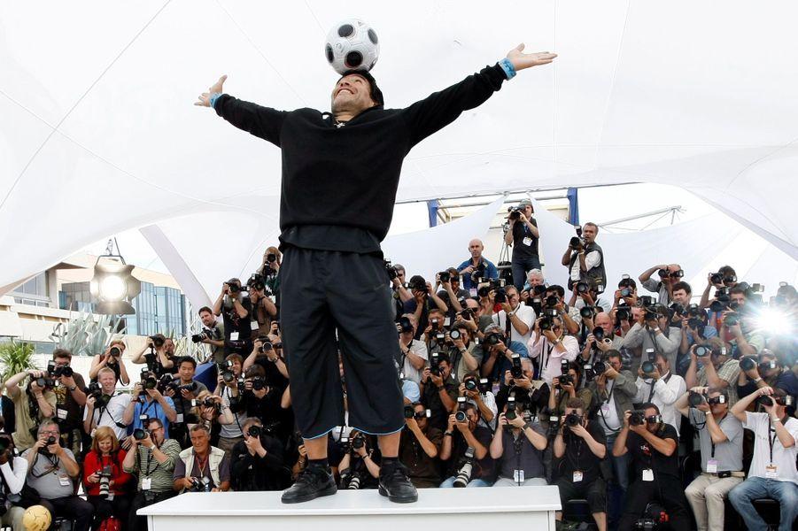 Diego Maradona lors du Festival de Cannes 2008.