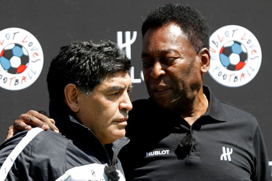 Diego Maradona et Pelé en 2016