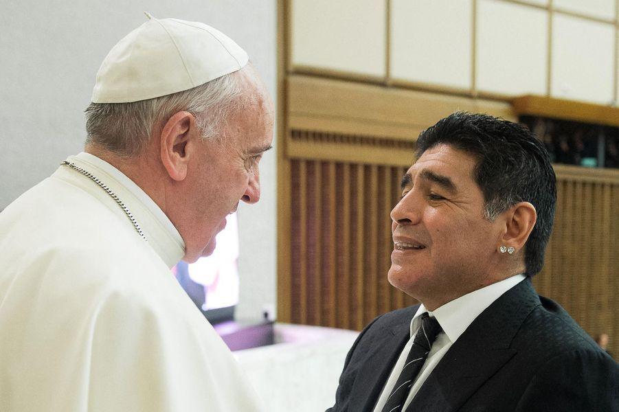 Avec le pape François en 2014.