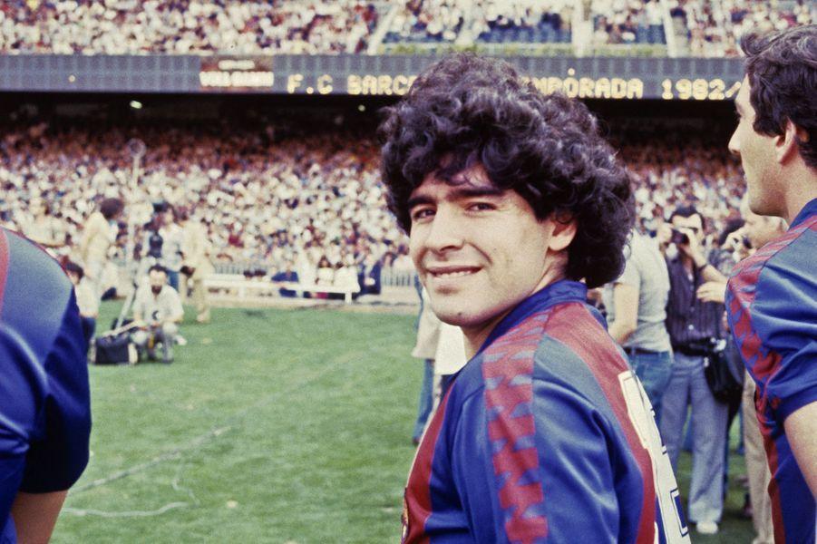 Photo prise lors de son arrivée au FC Barcelone en 1992.