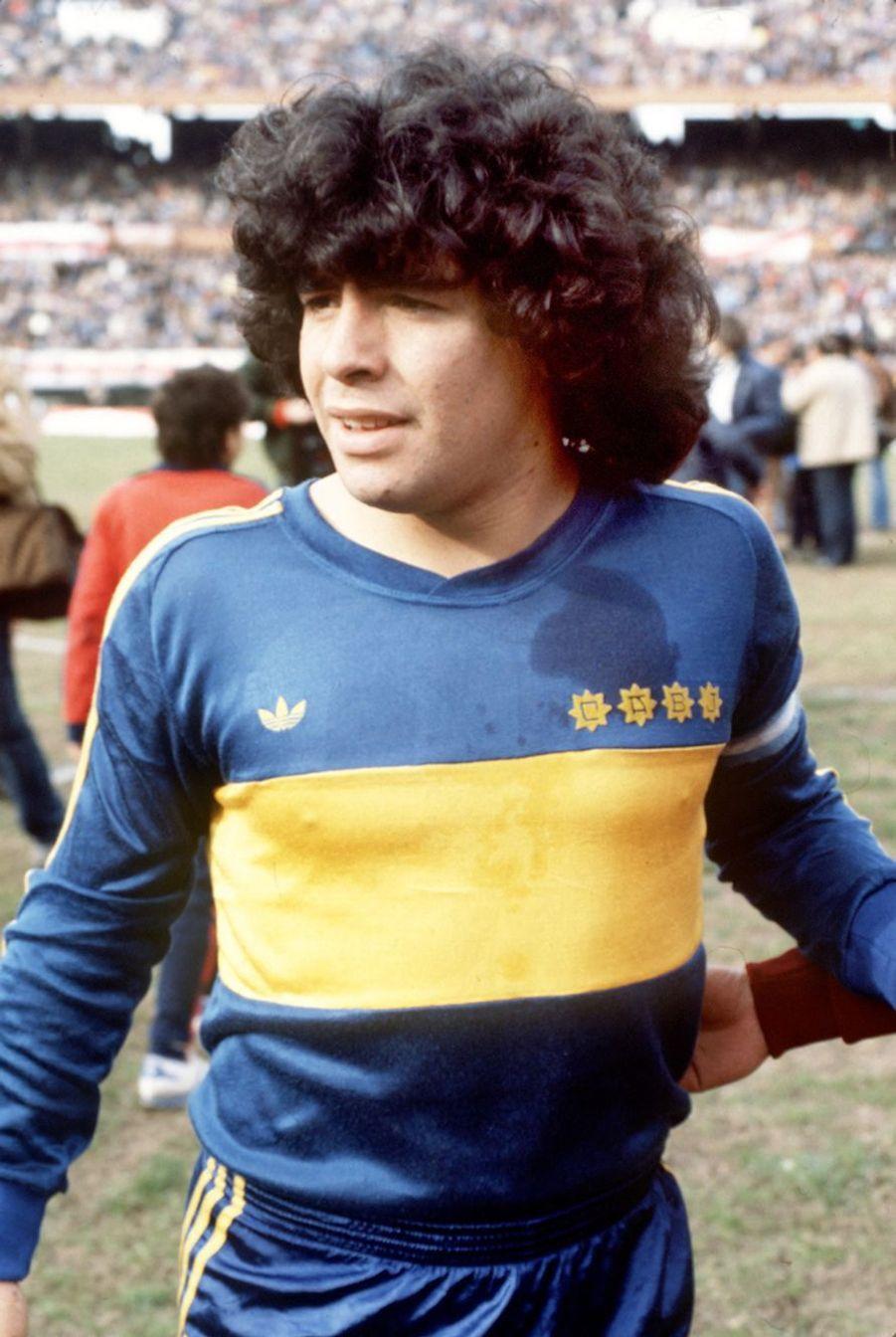 Photo prise sous le maillot de Boca Juniors en 1981.